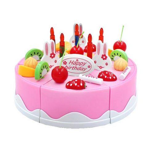 Kindersafe Duży tort urodzinowy do krojenia + świeczki, 75 elementów 889-19a (5902921969525)