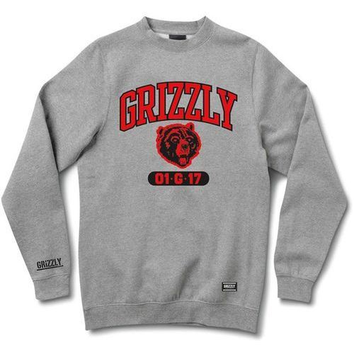 bluza GRIZZLY - Halftime Crewneck Heather Grey (HTHR) rozmiar: S