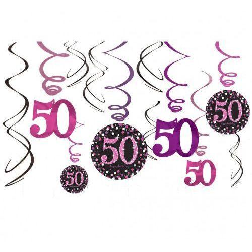 Świderki, dekoracja na 50 urodziny różowa Sparkling Celebration (0013051637781)