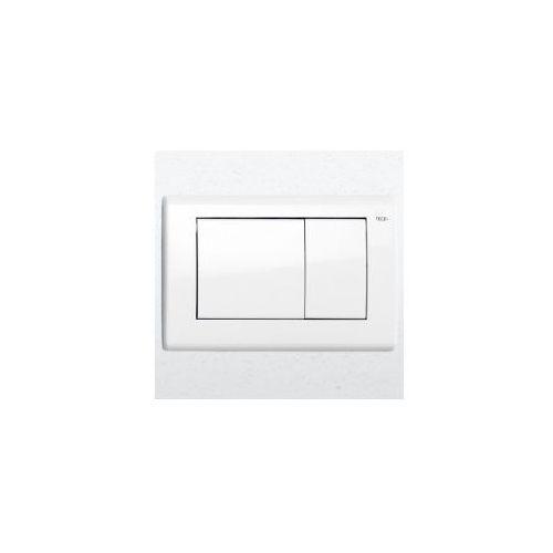 przycisk spłukujacy teceplanus do wc biały połysk 9240324 marki Tece