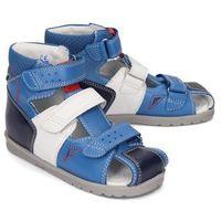 BARTEK 86792/5-113 niebiesko-biały, obuwie profilaktyczne dziecięce, rozmiary 27-32