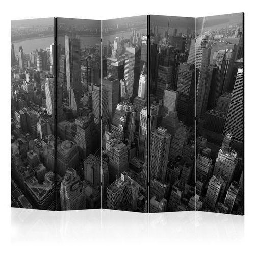 Parawan 5-częściowy - Nowy Jork: wieżowce (widok z lotu ptaka) II [Room Dividers]