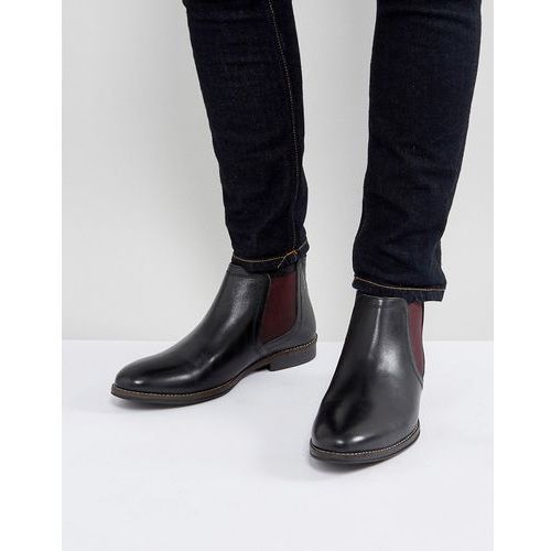 Red Tape Chelsea Boots With Contrast - Black