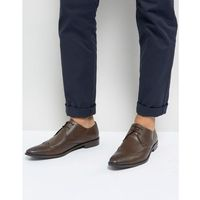 Frank Wright Wing Tip Brogue Shoes In Brown Leather - Brown, kolor brązowy