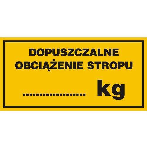 Top design Dopuszczalne obciążenie stropu.......kg