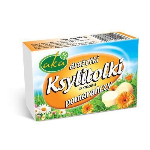 Aka Ksylitolki drażetki pudrowe pomarańczowe 40 g