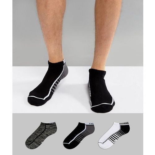Calvin Klein Performance Trainer Sock In 3 Pack Multi With Coolpass - Multi
