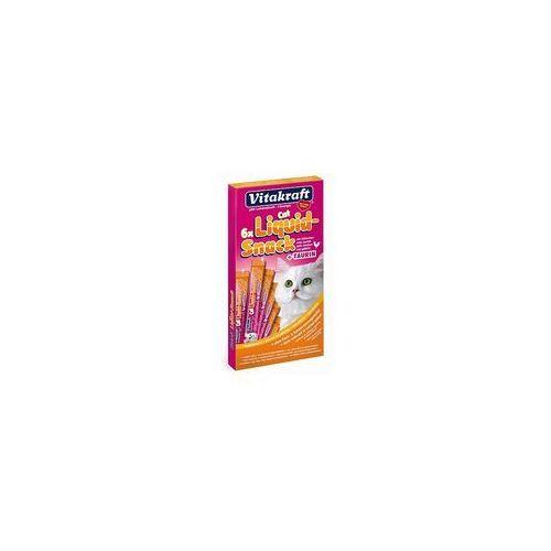 Vitakraft Cat Stick Mini, 24 x 6 g + Vitakraft Cat Liquid pasta, z kurczakiem i tauryną, gratis! - Łosoś i pstrąg, 24 x 6 g, KVIT002