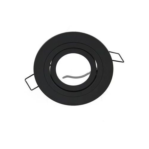 Ledart Oprawa sufitowa aluminium okrągła ruchoma czarny matowy (4024163138598)