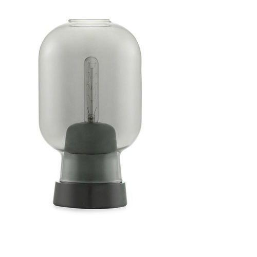 AMP - Lampa stojąca Szkło palone Czarny/Marmur Wys.26,5cm (5712396001169)