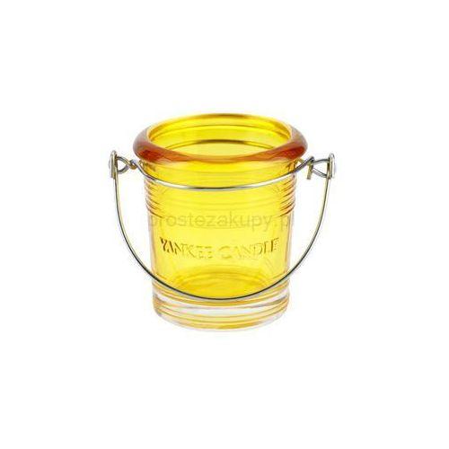 Yankee Candle Glass Bucket szklany świecznik na sampler (Yellow) + do każdego zamówienia upominek.