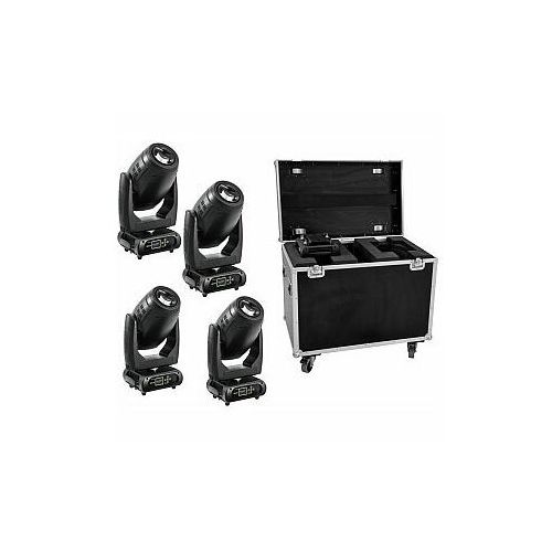 FUTURELIGHT Zestaw 4x DMH-200 LED Moving-Head + Case, 20000545