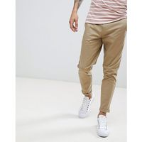 Burton Menswear Tapered Fit Chinos In Tan - Tan, chinosy