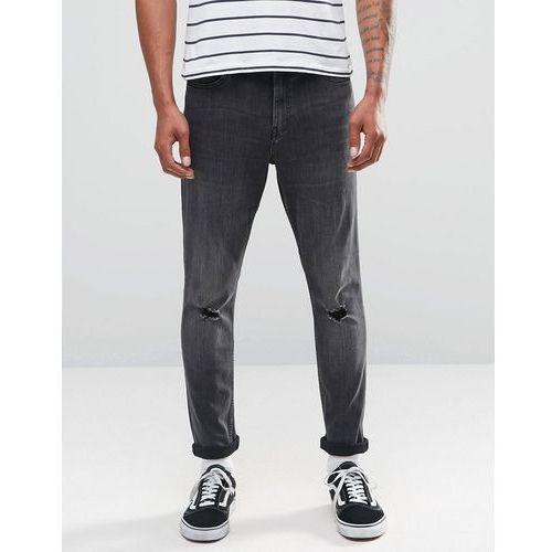 tight skinny jeans shadow - grey marki Cheap monday