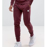 Good for nothing skinny joggers in burgundy with small logo - red