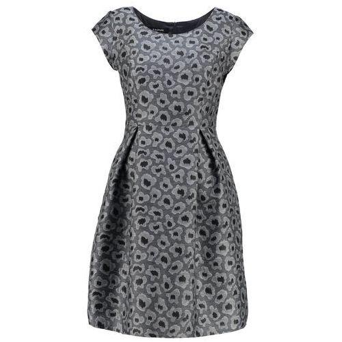 Elegancka żakardowa sukienka, kolor szary