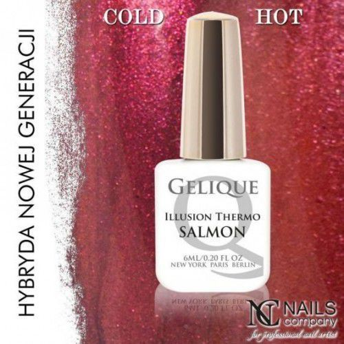 Nails Company GELIQUE ILLUSION THERMO SALMON 6ML - Żel hybrydowy