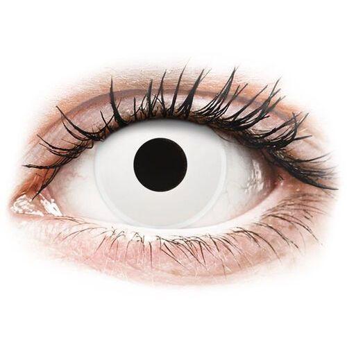 Colourvue crazy lens - whiteout - jednodniowe zerówki (2 soczewki) marki Maxvue vision