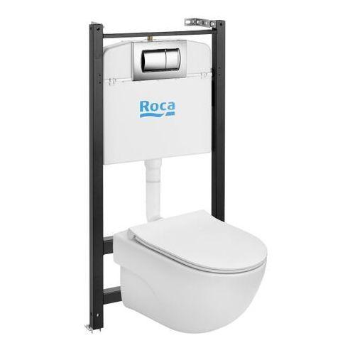 Zestaw podtynkowy WC Roca Active Teras z miską bezkołnierzową i deską wolnoopadającą, A893104591