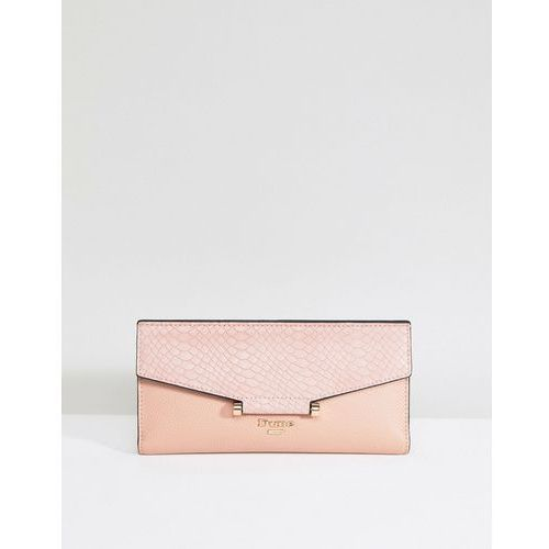 Dune blush purse with faux croc contrast - pink