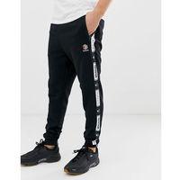 joggers with logo taping back - black, Reebok, XS-XXL