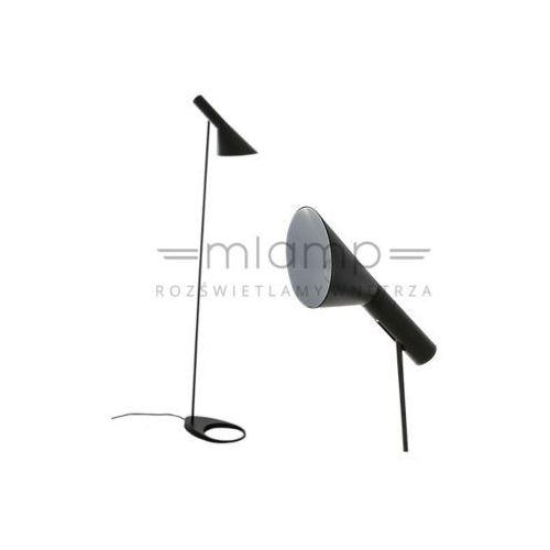 Stojąca LAMPA podłogowa VOLTA MLE3020/1-BLACK Italux metalowa OPRAWA minimalistyczna czarna