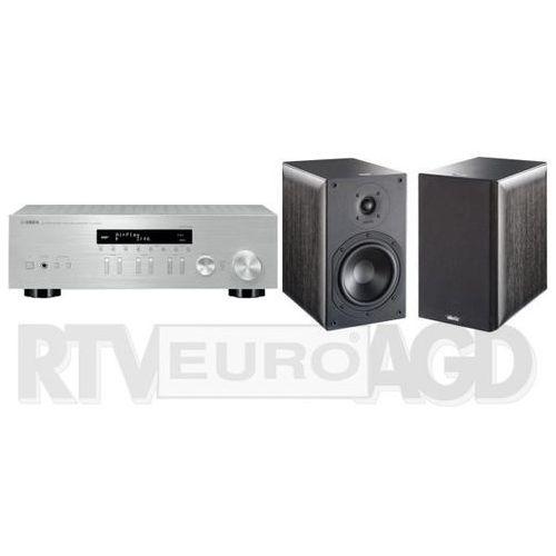 Yamaha MusicCast R-N303D (srebrny), Indiana Line Nota 260 X (czarny dąb) (0000001140249)