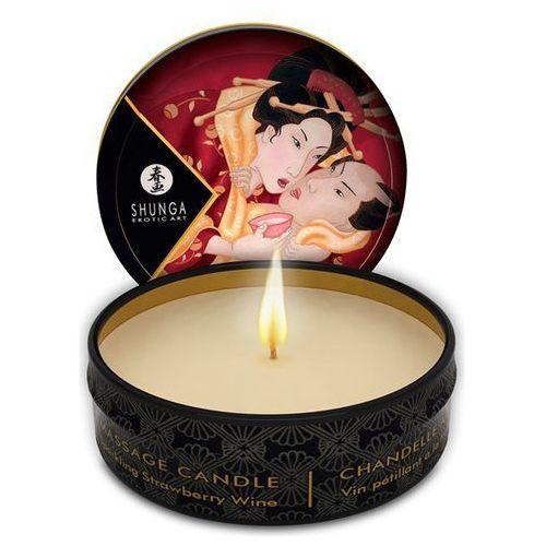 Świeca do masażu - Shunga Massage Candle Strawberry 30 ml Truskawka