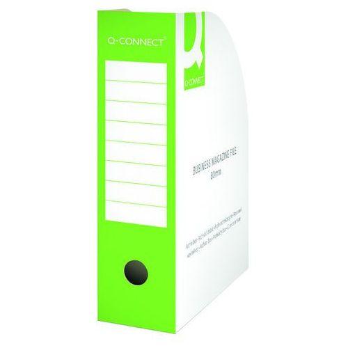 Pojemnik na dokumenty , karton, otwarte, a4/80mm, zielone marki Q-connect