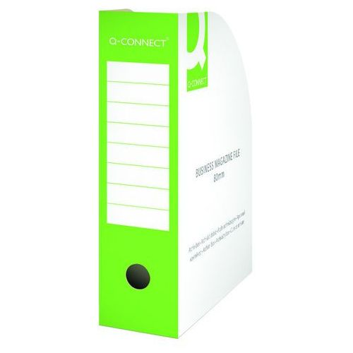 Q-connect Pojemnik na dokumenty , karton, otwarte, a4/80mm, zielone