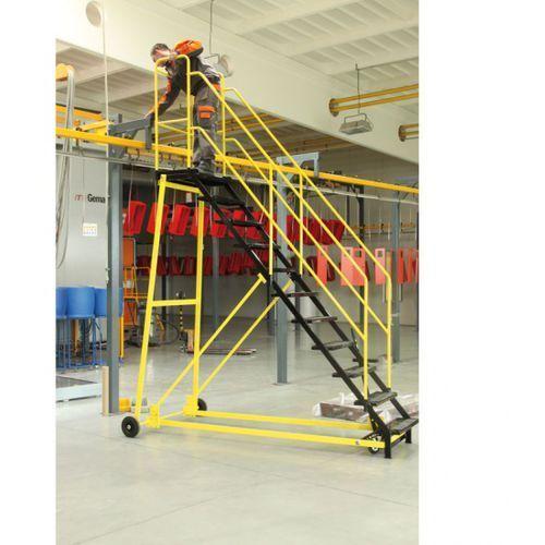 B2b partner Drabina platformowa 2,03 m, platforma metalowa
