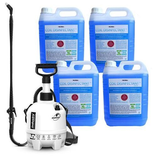 Zestaw - preparat do czyszczenia i dezynfekcji klimatyzacji oraz urządzeń chłodniczych coil disinfectant ze spryskiwaczem 5l marki Rectorseal