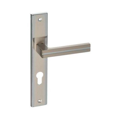 Schaffner Klamka drzwiowa z długim szyldem do wkładki mada 72 nikiel/chrom