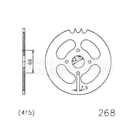 Zębatka tylna stalowa jt 20-0268-47, 47z, rozmiar 415 2300918 hercules prima 25 marki Jt sprockets
