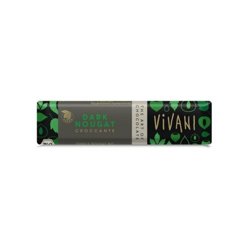 Baton croccante czekolada gorzka nugatowa bio 35 g-  marki Vivani