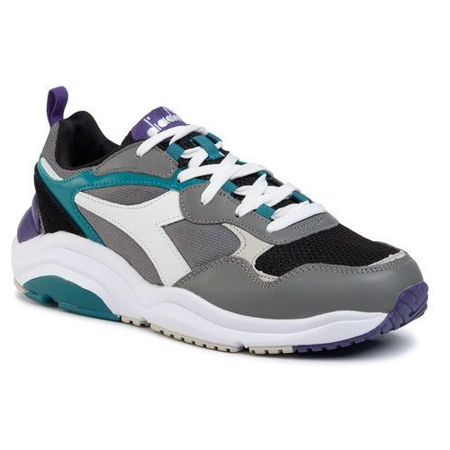 Sneakersy DIADORA - Wizz Run D501.174340 C8020 Charcoal Gry/Wht/Harbor B, kolor szary