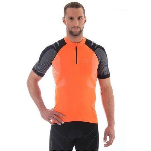 Koszulka rowerowa unisex z krótkim rękawem Brubeck SS10410 - pomarańczowy