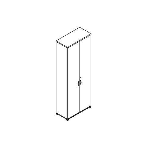 Szafa aktowa 2-drzwiowa H61 wymiary: 80,2x38,5x218,5 cm, H61