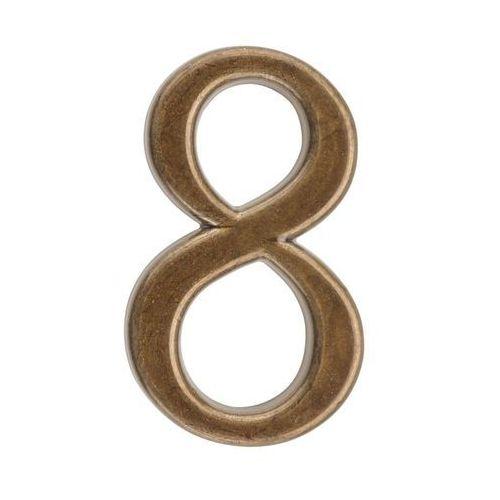 Cyfra 8 wys. 5 cm metalowa brązowa (5901912823044)