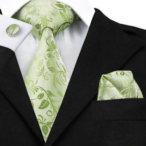 Zestaw jedwabny krawat spinki poszetka 1162 marki E-spinki.pl