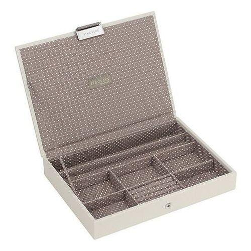Stackers Pudełko na biżuterię z pokrywką classic waniliowo-kawowe