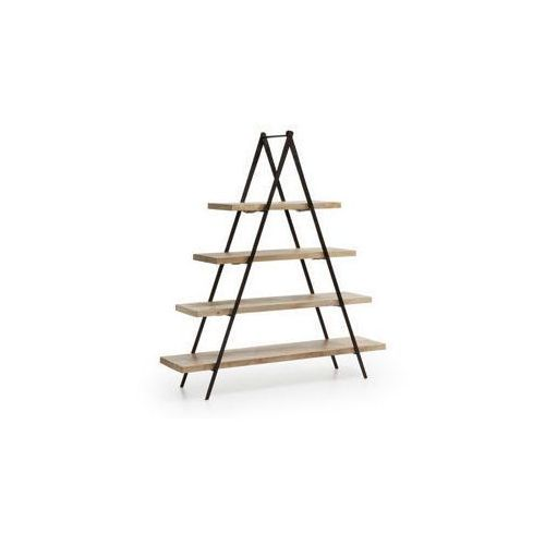 :: regał na książki nagrom metalowy - naturalne drewno marki Laforma