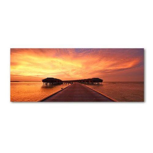 Foto obraz akryl bungalowy malediwy marki Wallmuralia.pl