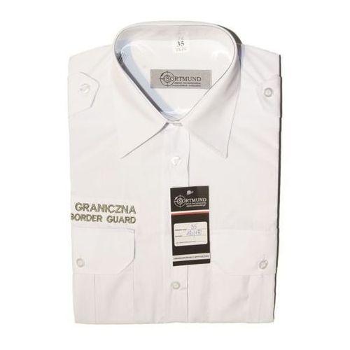 """Sortmund Koszula biała straży granicznej """"polish border guard"""" - krótki rękaw"""