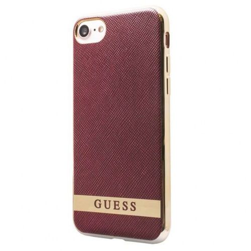 Guess Classic Soft Case - Etui iPhone 7 (czerwony/złoty), GUHCP7STRRAG