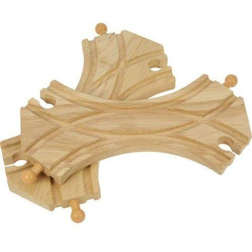 Podwójne Rozjazdy torów do zabawy, wyposażenie kolejek drewnianych Bigjigs