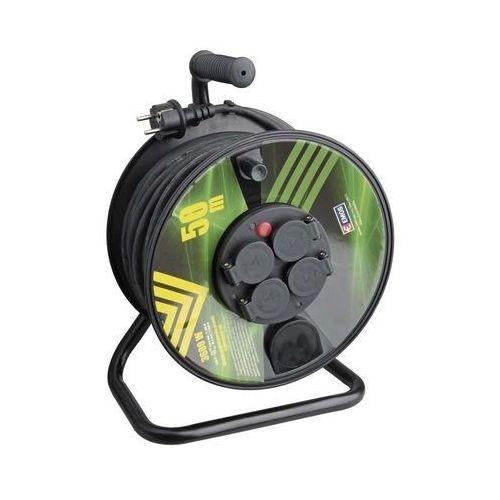 Emos Przedłużacz zwijany 4g/gum/3x1,5 p084501