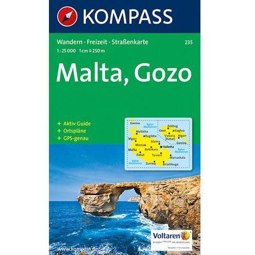 Malta i Gozo mapa 1:25 000 Kompass, praca zbiorowa