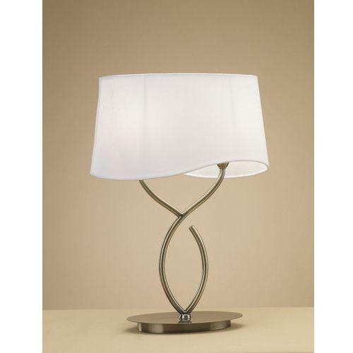 Lampa biurkowa ninette 2l antyczny mosiądz - kremowy klosz, 1926 marki Mantra