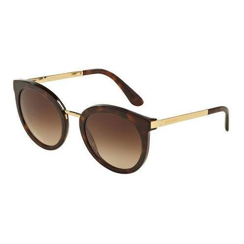 Okulary Słoneczne Dolce & Gabbana DG4268F Asian Fit 502/13, kolor żółty